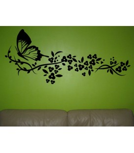 Flying butterfly, wall sticker for the living room.