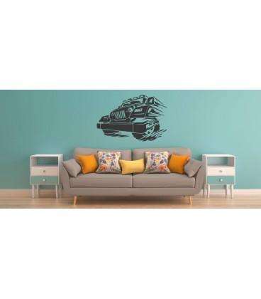 Jeep wall decal, boys bedroom decorative wall art sticker.