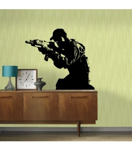 Soldier Call of Duty, game fans decorative wall art sticker, wall graphics, wall decal.