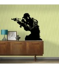 Soldier decorative wall art sticker, wall graphics, wall decal.