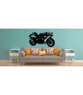 Kawasaki Ninja teenager bedroom wall art sticker.