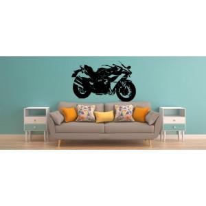 Kawasaki Ninja teenager bedroom personalized wall art sticker.
