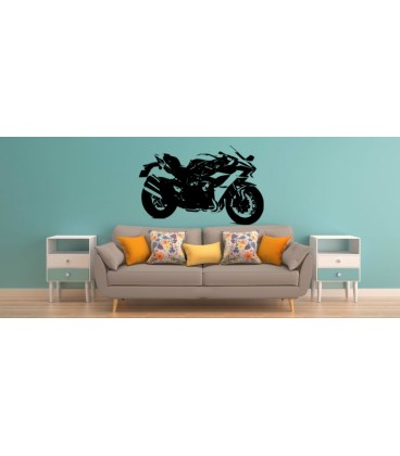 Kawasaki Ninja teenager bedroom personalized wall art sticker.
