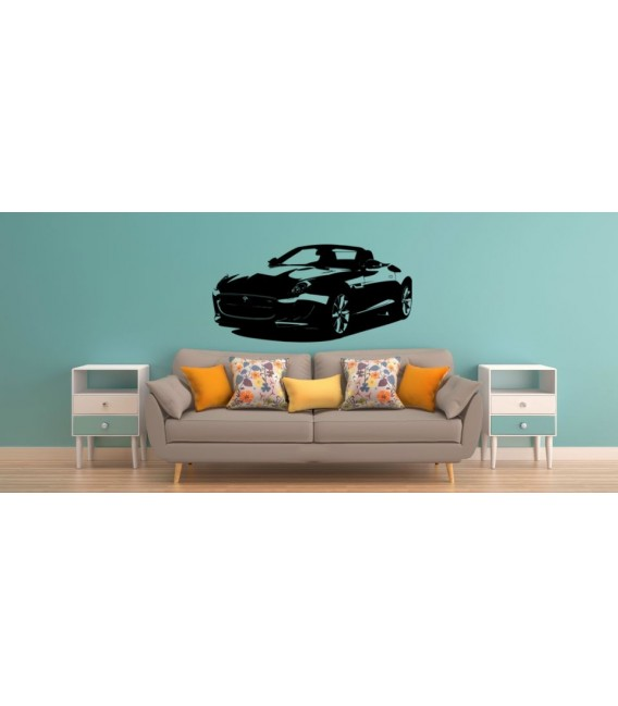 Jaguar F-type car wall decal, boys bedroom decorative wall art sticker.