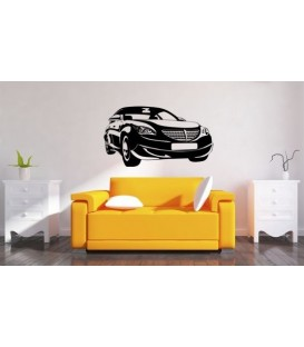 Mercedes wall art sticker boys bedroom decorative wall decal.