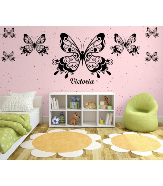 Butterflies wall art stickers for bedroom.