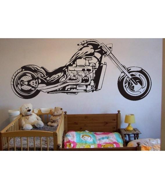 Motorbike wall decal boys bedroom wall art sticker, wall graphics.