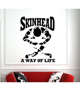 Skinhead a way of life wall art sticker.
