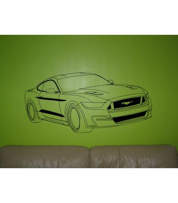 Ford Mustang wall art sticker boys bedroom decorative wall decal.