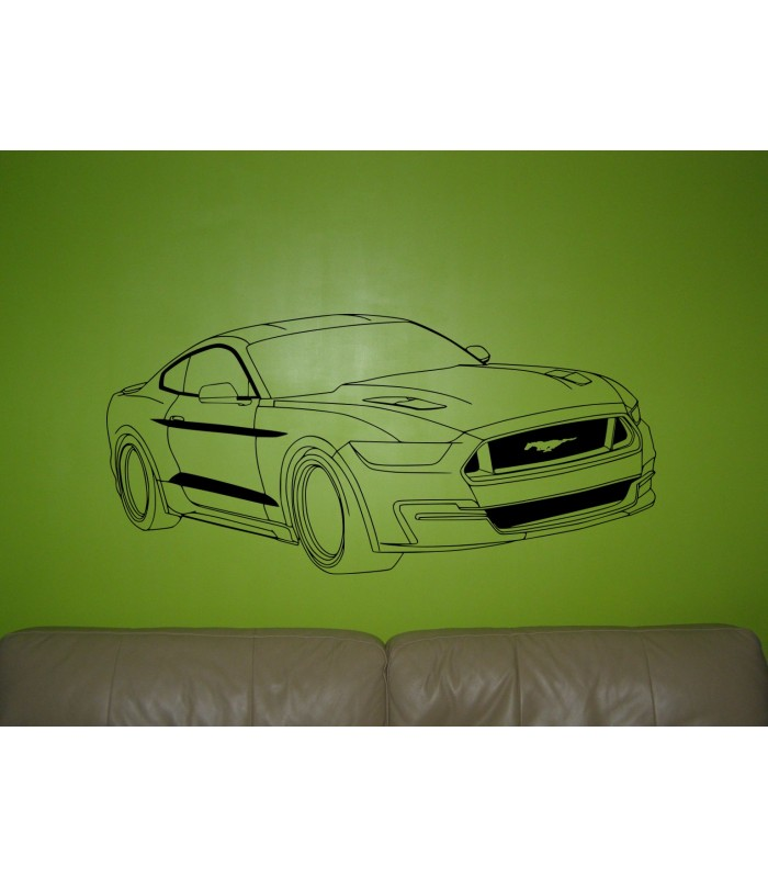 Ford Mustang car wall decal bedroom wall art sticker, wall ...