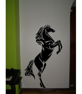 Jumping horse giant animal wall art sticker. Jumping horse wall decal.
