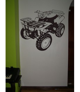 Quad bike boys bedroom giant art wall sticker, quad bike wall decal.