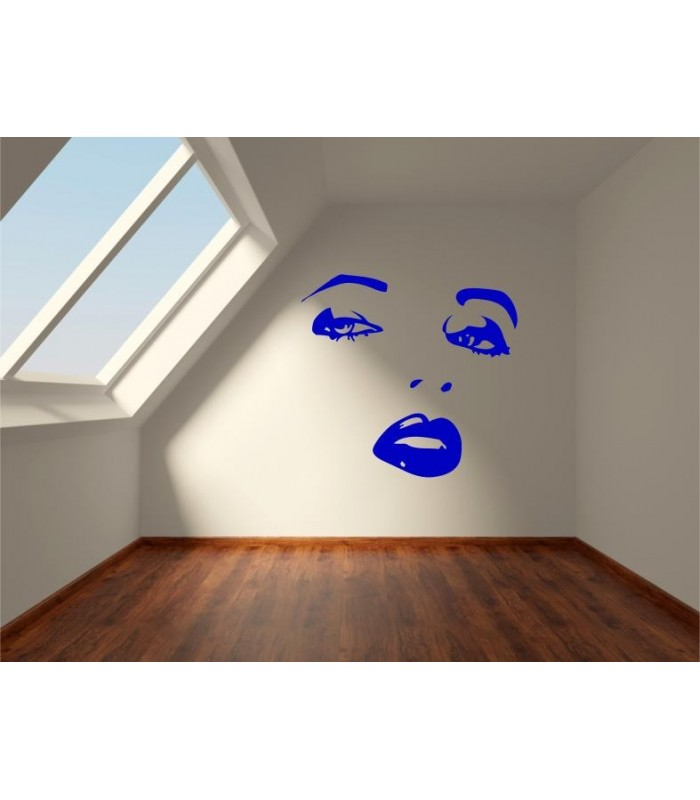 Wall Mural Vinyl Decal Sticker Female Face Sexy Lips