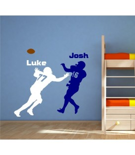 American football wall sticker, wall graphics.