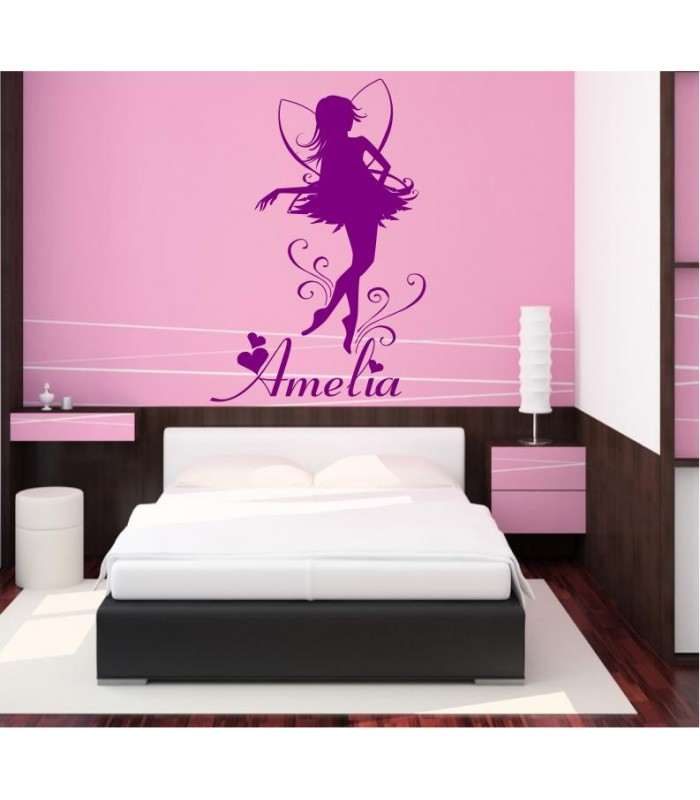 Fairy With A Child 39 S Name Bedroom Wall Stickers