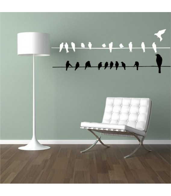 Birds on a line wall sticker decorative for living room.
