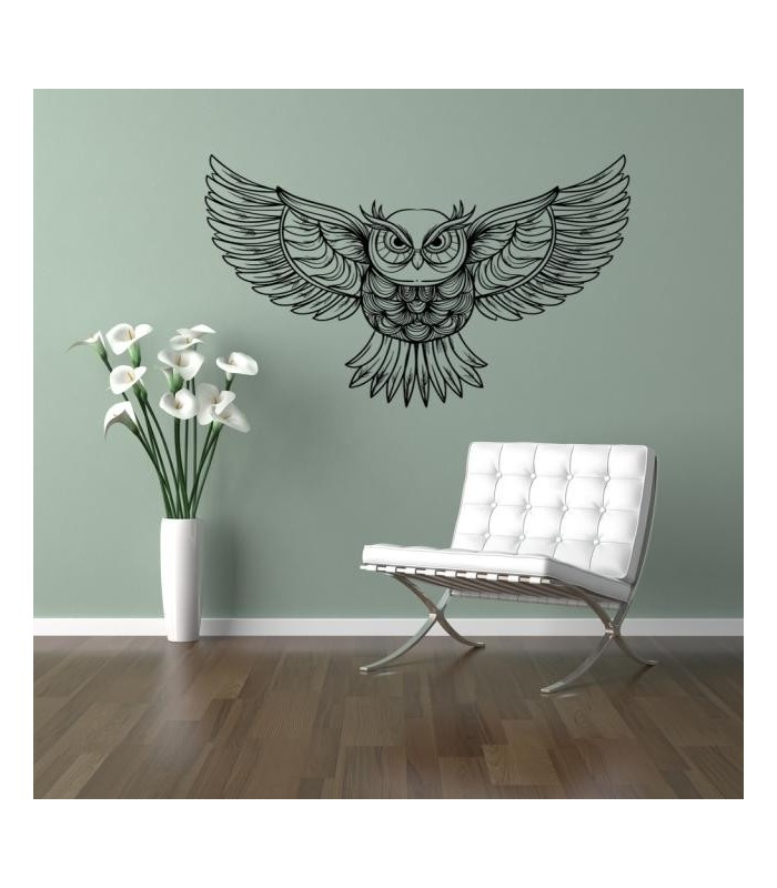 An Owl With Spread Wings Wall Sticker For Living Room