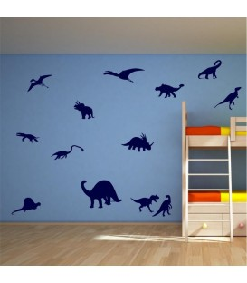 Wall art stickers dinosaurs vinyl graphics.