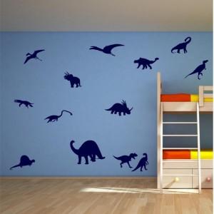 Wall art stickers dinosaurs vinyl graphics.
