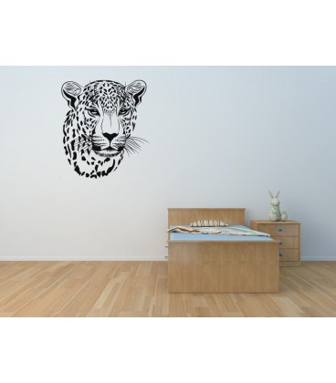 Leopard's head wall sticker for living room.