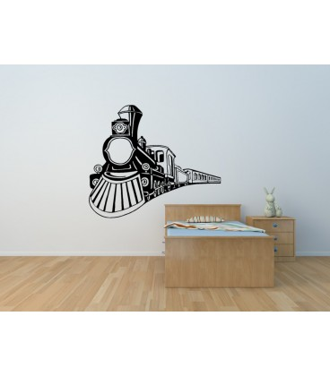 Train boys bedroom wall sticker.