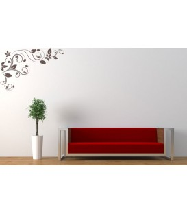 Flower swirl corner wall sticker, swirl wall graphics.