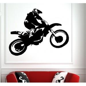 Moto cross teenager bedroom wall sticker.