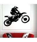 Motocross teenager bedroom wall sticker.