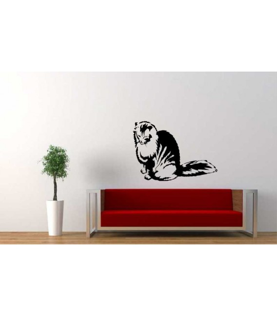 Cute kitty design self-adhesive wall sticker