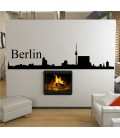 Berlin city skyline living room wall sticker.