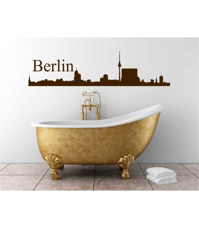 Berlin City Skyline Wall Art Decal For Lounge Wall Decoration