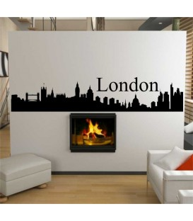 London city skyline living room wall sticker.