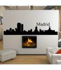 Madrid city skyline wall decal, living room wall sticker.