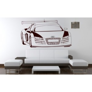 Audi R8 spider racing car boys bedroom giant wall sticker, Audi R8 wall decal.