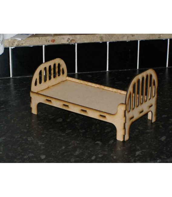 Doll bed wooden laser-cut simple design ready to paint.