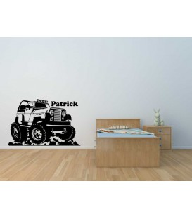Off-road Jeep boy bedroom wall sticker.