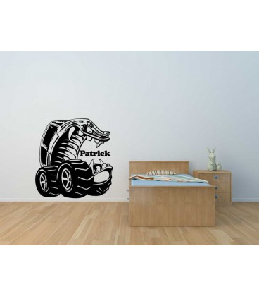 Monster truck wall sticker boys bedroom wall decal.