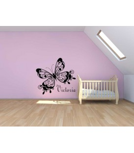 Beautiful butterfly  wall sticker, girl bedroom giant wall sticker UK.