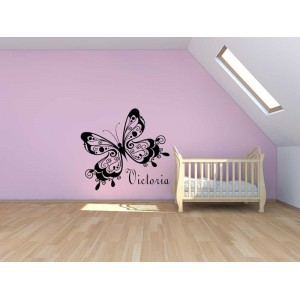 Beautiful butterfly,  wall decor sticker, girl bedroom giant wall sticker UK.