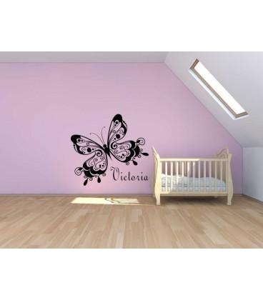 Beautiful butterfly  wall sticker, girl bedroom giant wall sticker UK.