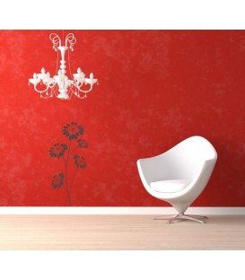 Daisy flower living room or bedroom wall decals.
