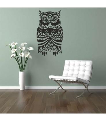 Owl beautiful bird as a wall sticker.