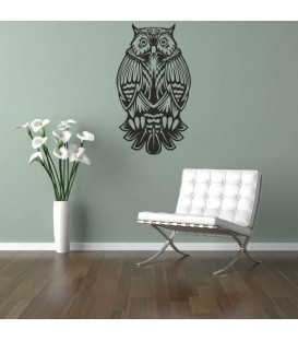 Owl night bird as bedroom wall sticker.