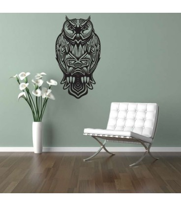 Owl beautiful bird as a wall sticker.
