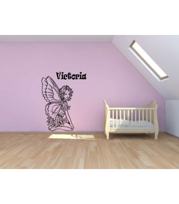Fairy personalised wall sticker.