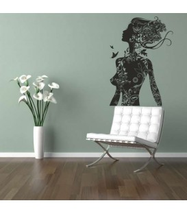Betty Boop on a motorbike wall decal, decorative wall art stickers, Betty Boop wall graphics.
