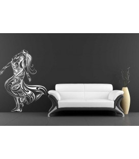 Sexy woman tribal pattern wall sticker.