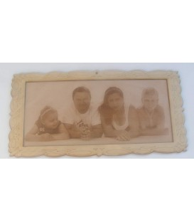 Your picture engraved on the plywood to order.