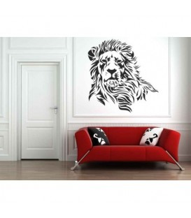Wild lion wall decal, lion decorative wall art sticker.