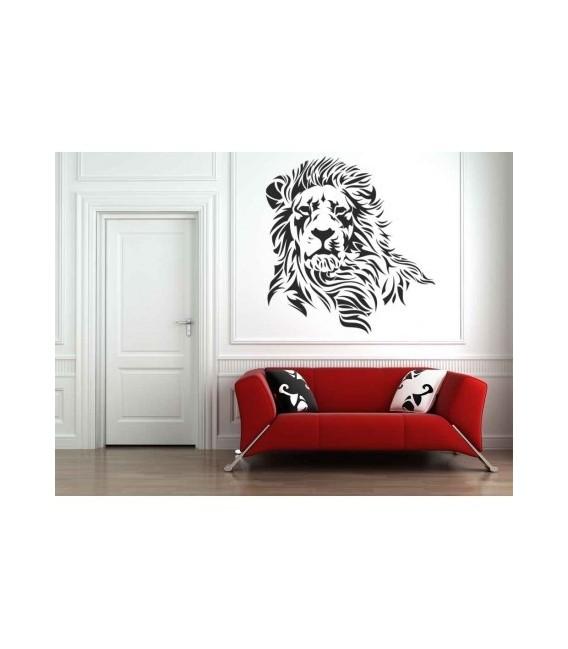 Wild lion, decorative wall art sticker.